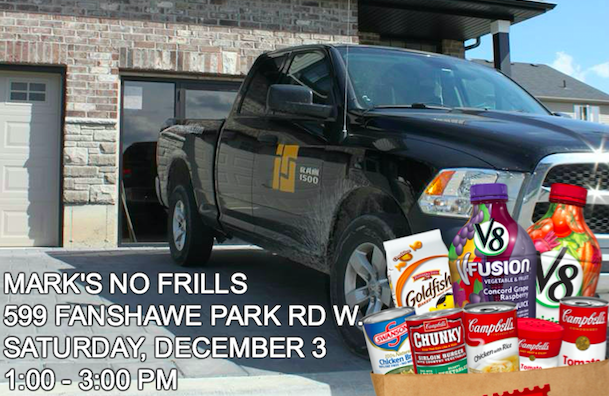 ironstone building company london onytario food drive